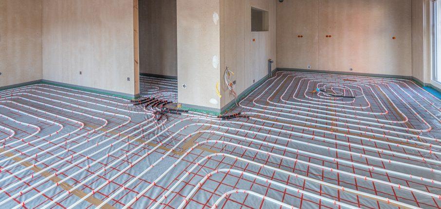 Rohbau mit Fußbodenheizung