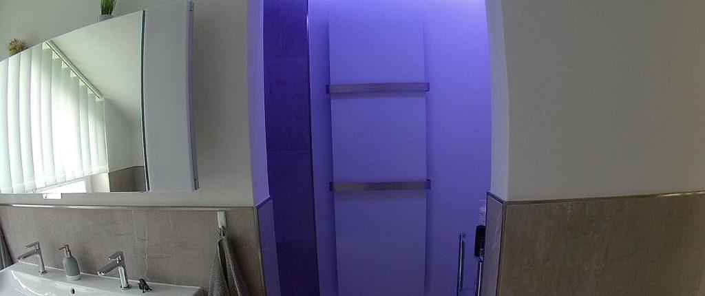 Duschbereich mit Heizkörper